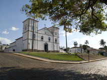 Igreja da Matriz Nossa Senhora do Rosario. (Matriz de N.S do Rosario Church), the oldest church in the estate of Goias Stock Photo