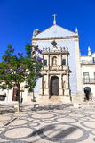 Igreja da Misericordia Church and wisteria tree. Aveiro, Portugal Royalty Free Stock Photos
