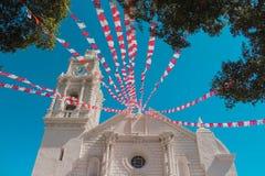 Igreja da missão decorada Fotografia de Stock