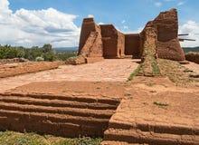 Igreja da missão do povoado indígeno dos Pecos Imagem de Stock Royalty Free