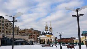 Igreja da natividade de Cristo na área postal, kiev fotos de stock royalty free
