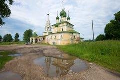 Igreja da natividade do dia nebuloso de John The Baptist julho Uglich Imagens de Stock