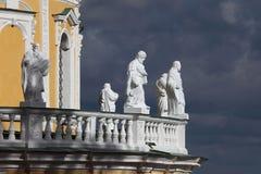 Igreja da natividade do Virgin abençoado, região de Moscou, vil Imagem de Stock