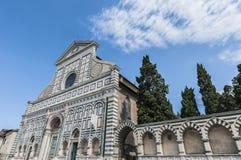 Igreja da novela de Santa Maria em Florença, Italy imagens de stock royalty free