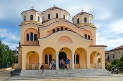 Igreja da igreja ortodoxa da natividade de Cristo, Shkoder, Albânia imagens de stock royalty free