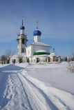 Igreja da ortodoxia no inverno Fotos de Stock Royalty Free