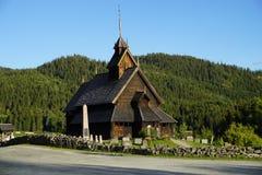 Igreja da pauta musical de Eidsborg Fotografia de Stock Royalty Free