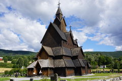 Igreja da pauta musical de Heddal, Telemark, Noruega Fotos de Stock Royalty Free