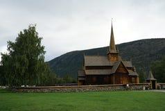 Igreja da pauta musical em Noruega Foto de Stock Royalty Free