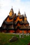 Igreja da pauta musical em Noruega desde 1200 y Imagem de Stock