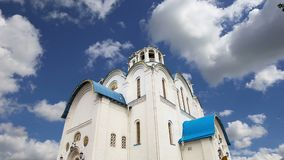 Igreja da proteção da mãe do deus em Yasenevo, Moscou, Rússia vídeos de arquivo