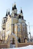 Igreja da ressurreição, cidade de Tomsk, Rússia foto de stock