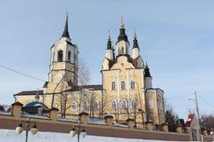 Igreja da ressurreição, cidade de Tomsk, Rússia imagem de stock