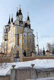 Igreja da ressurreição, cidade de Tomsk, Rússia imagens de stock