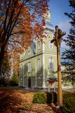 Igreja da revelação de Cristo em Prienai foto de stock
