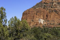 Igreja da rocha em Sedona o Arizona imagens de stock