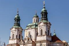 Igreja da São Nicolau de Praga Imagens de Stock