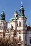 Igreja da São Nicolau de Praga Fotos de Stock Royalty Free
