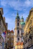 A igreja da São Nicolau em Praga, República Checa Foto de Stock Royalty Free