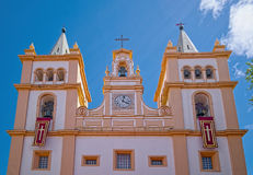 Igreja da Santissimo萨尔瓦多da Se, Angra,亚速尔群岛 免版税库存照片