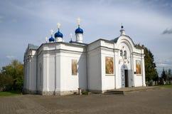 A igreja da suposição abençoou a virgem na vila de Zavidovo Imagem de Stock