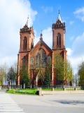Igreja da suposição de Cristo na cidade de Kupiskis Imagem de Stock