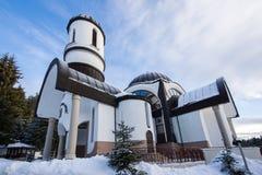 Igreja da suposição da mãe a mais santamente na estância de esqui Pamporovo em Rhodope, montanhas Imagem de Stock