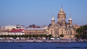 Igreja da suposição na ilha de Vasilievsky em St Petersburg Foto de Stock Royalty Free