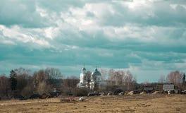 A igreja da vila Imagem de Stock