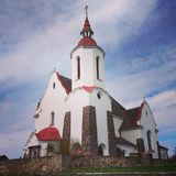 Igreja da Virgem Maria, Soly, Bielorrússia Imagens de Stock Royalty Free