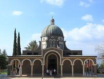 Igreja das beatitudes, mar de Galilee fotografia de stock royalty free