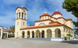 Igreja de Agios Nikolaos na vila de Palaia Epidavros, Peloponnese, Grécia Imagem de Stock Royalty Free
