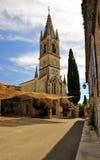 Igreja de Aigueze, região de Ardeche, France Foto de Stock Royalty Free