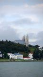 Igreja de Akureyri em Islândia foto de stock