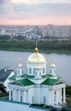 Igreja de Alekseevskaya do monastério do aviso Imagens de Stock