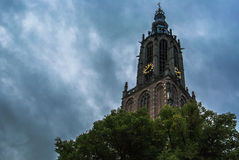 Igreja de Amersfoort & x28; Onze Lieve Vrouwetoren & x29; Imagem de Stock Royalty Free