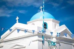 Igreja de Angios Nikolaos, Mykonos, Greece. fotos de stock