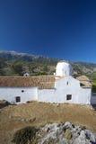 Igreja de Aradaina, ilha de crete fotografia de stock