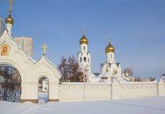 Igreja de Archistrategos Mikhail em Novosibirsk Imagens de Stock Royalty Free