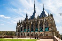 A igreja de Barbara de Saint, Kutna Hora, República Checa Imagens de Stock