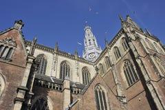 Igreja de Bavo em Haarlem Fotos de Stock Royalty Free