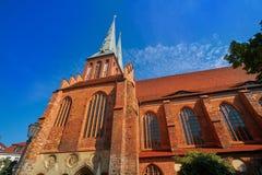 Igreja de Berlin Nikolaikirche em Alemanha Fotografia de Stock