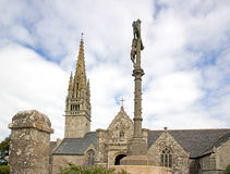 Igreja de Beuzec, Cristo na cruz Finistere, Brittany, França fotografia de stock royalty free