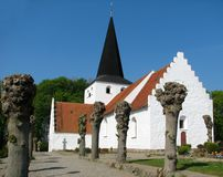 Igreja de Bregninge imagem de stock royalty free
