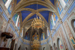 Igreja de Cargese, Corse de Grek, França Fotografia de Stock