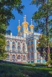 Igreja de Catherine Palace na cidade de Pushkin fotos de stock
