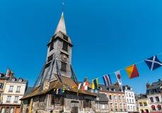Igreja de Catherine de Saint em Honfleur - Normandy, França fotos de stock