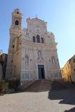 Igreja de Cervo, Liguria, Italy fotografia de stock