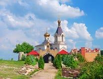 Igreja de Christian Orthodox, Moldova fotos de stock