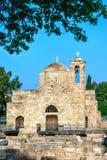 Igreja de Chrysopolitissa em Kato Paphos, Chipre Agia Kyriaki Chrysopolitissa Imagens de Stock